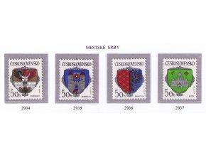 ČS 1990 / 2934-2937 / Znaky čs. miest **