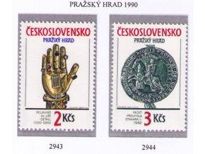 ČS 1990 / 2943-2944 / Pražský hrad **