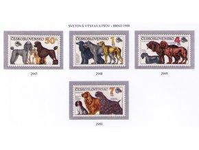 ČS 1990 / 2947-2950 / Výstava psov **