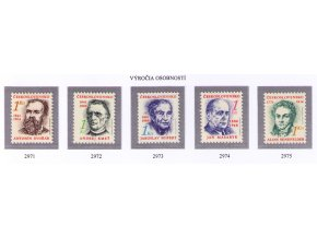 ČS 1991 / 2971-2975 / Výročia osobností **