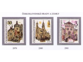 ČS 1991 / 2979-2981 / Čs. hrady a zámky **