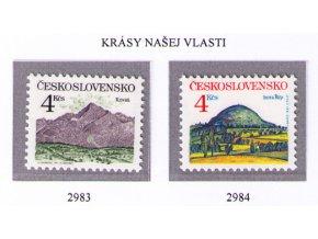ČS 1991 / 2983-2984 / Krásy našej vlasti **
