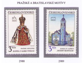 ČS 1991 / 2988-2989 / Pražské a bratislavské motívy **