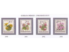 ČS 1991 / 2990-2993 / Ochrana prírody - kvety **
