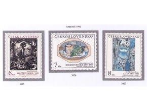 ČS 1992 / 3025-3027 / Umenie **
