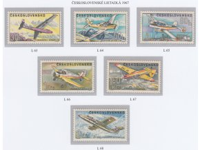 ČS Letecké: L 063-068 Čs. lietadlá