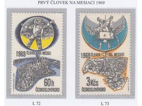 ČS Letecké: L 072-073 Človek na mesiaci