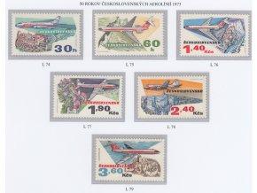 ČS Letecké: L 074-079 50. výročie ČSA