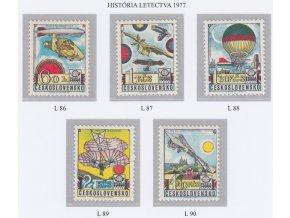 ČS Letecké: L 086-090 História letectva
