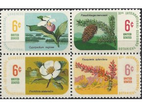 USA  1969 / 0986-0989 Flóra - Botanický kongres