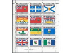 Kanada 1979 / 0731-0742 Vlajky PL **