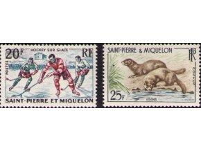 St. Pierre et Miquelon 1959 / 0390-0391 šport a fauna **