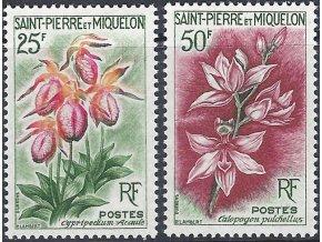St. Pierre et Miquelon 1962 / 0394-0395 kvety **
