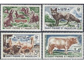 St. Pierre et Miquelon 1964 / 0408-0411 Fauna **