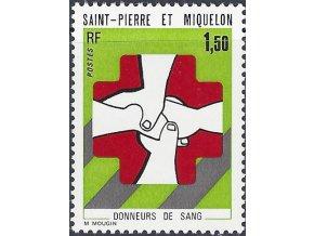 St. Pierre et Miquelon 1974 / 0498 daruj krv **
