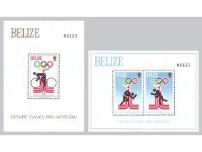 Belize 1979 / 0440-0442 Bl. 10 - Bl. 11 LOH v Moskve **