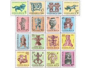 Kostarika 1963 / 0641-0656 Predkolumbovské umenie **