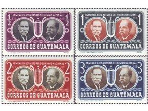 Guatemala 1953 / 0535-0538 Národná hymna **