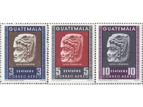 Guatemala 1953 / 0539-0541 Máyska kultúra **