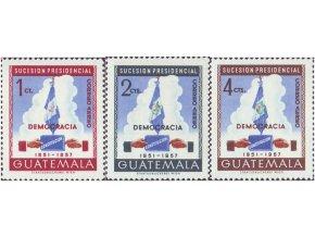 Guatemala 1953 / 0542-0544 prezidentské voľby **