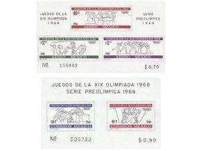 Mexiko 1966 / 1219-1223 Bl. 5 + Bl. 6 **