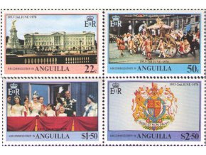 Anguilla 1978 / 0313-0316 / 25. výročie korunovácie Alžbety II. **