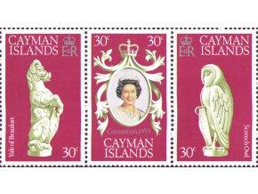 Cayman Isl. 1978 / 0409-0411 25. výročie korunovácie Alžbety II.