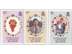 Cayman Isl. 1981 / 0475-0477 Svadba Diany a Charlesa