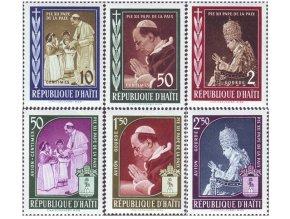 Haiti 1959 / 0555-0560 Pápež Pius XII