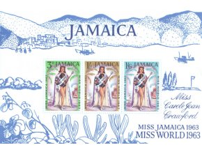 Jamajka 1964 / 0209 Bl. 2 Miss World