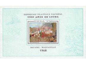 Kuba 1968 / 1434 Bl. 31 Umenie - Výstava známok