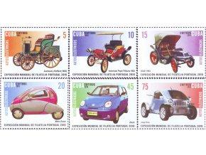 Kuba 2010 / 5445-5450 1 Bl. 280 / Autá - výstava známok