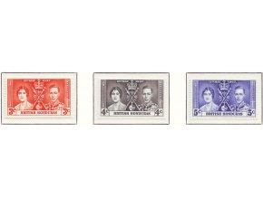 Br. Honduras 1937 / 0109-0111 / Korunovácia Juraja VI.  **