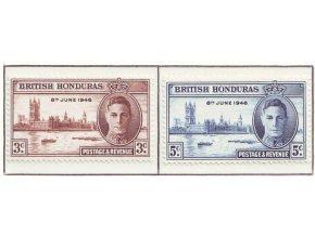 Br. Honduras 1946 / 0124-0125 / Prvé výr. ukončenia II. sv. vojny **