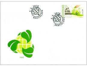 SR 611 EUROPA - mysli zeleno FDC