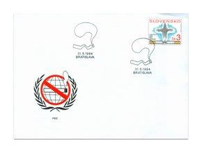 SR 031 Svetový deň bez tabaku FDC