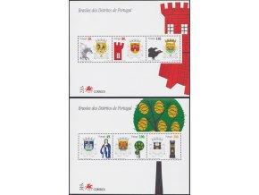 Portugalsko 2207 2212 Bl128 Bl129