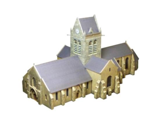 Kostel Notre-Dame de l'Assomption v Sainte-Mère-Église