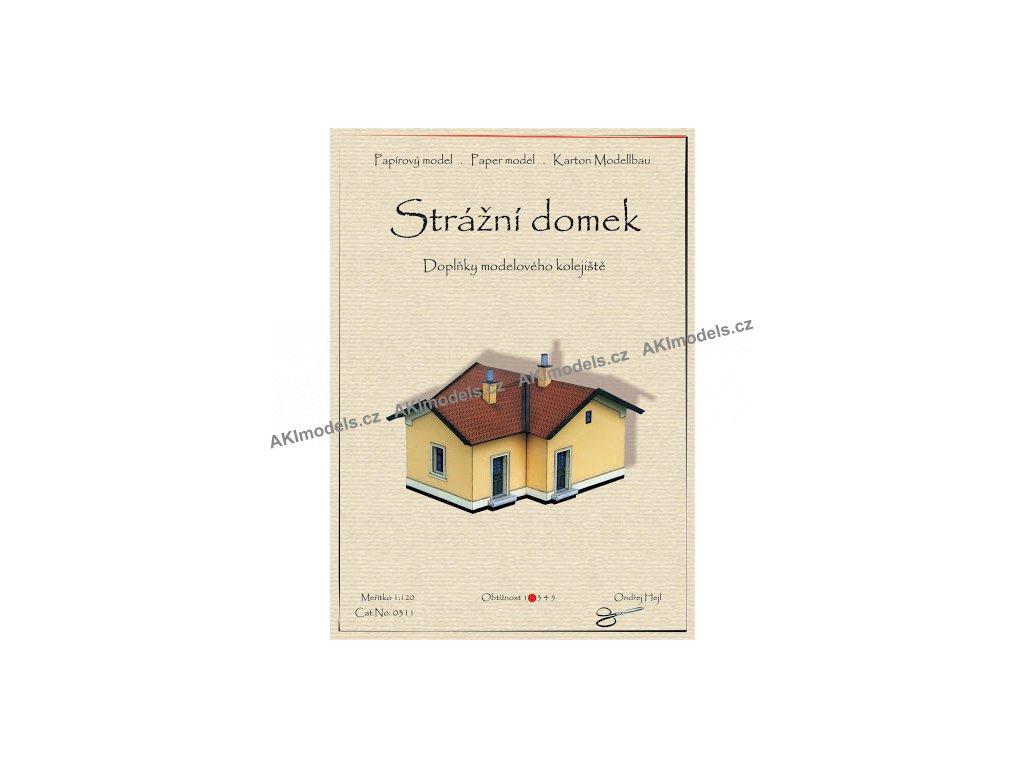 Doplňky modelového kolejiště - Strážní domek