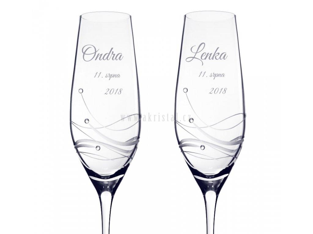 Glitz - svatební skleničky se Swarovski® - akristal.cz