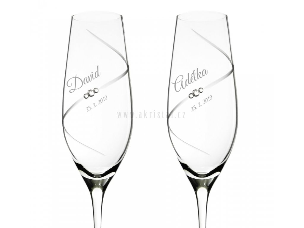 SILHOUETTE - svatební skleničky se Swarovski