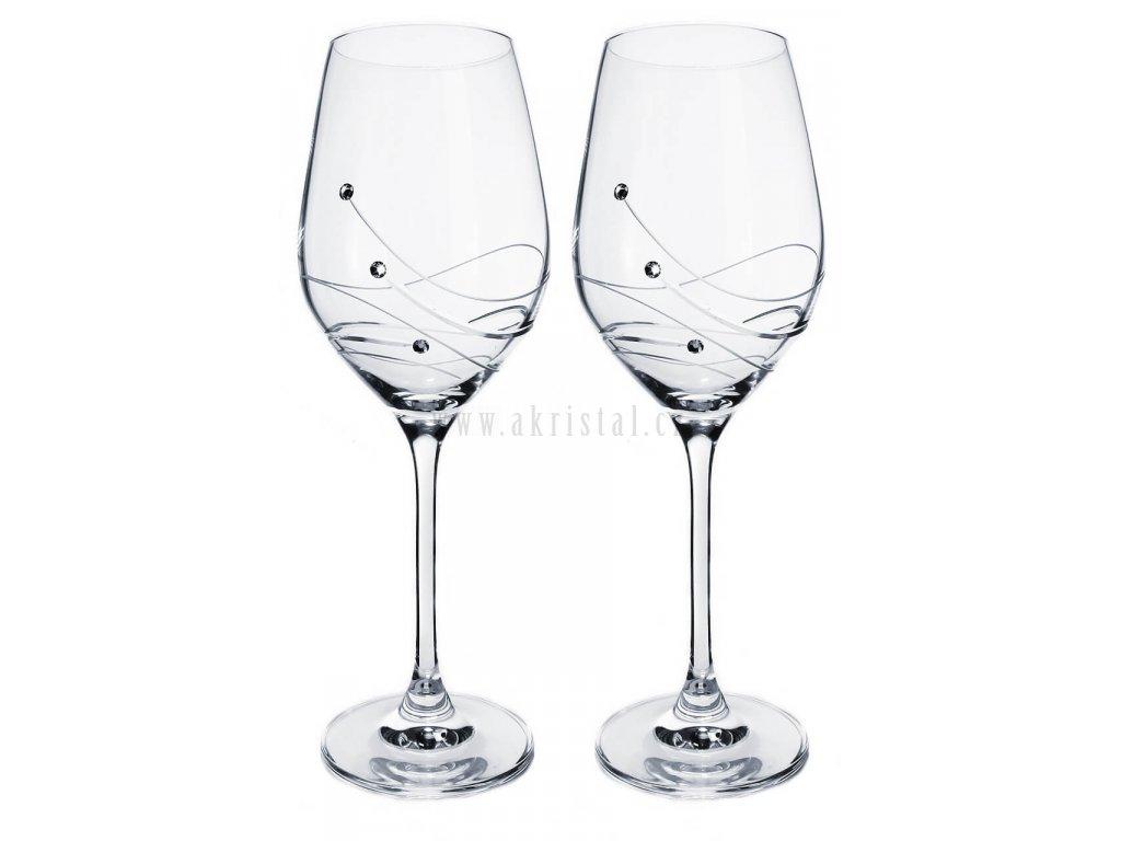 sklenicky na vino se swarovski elements glitz