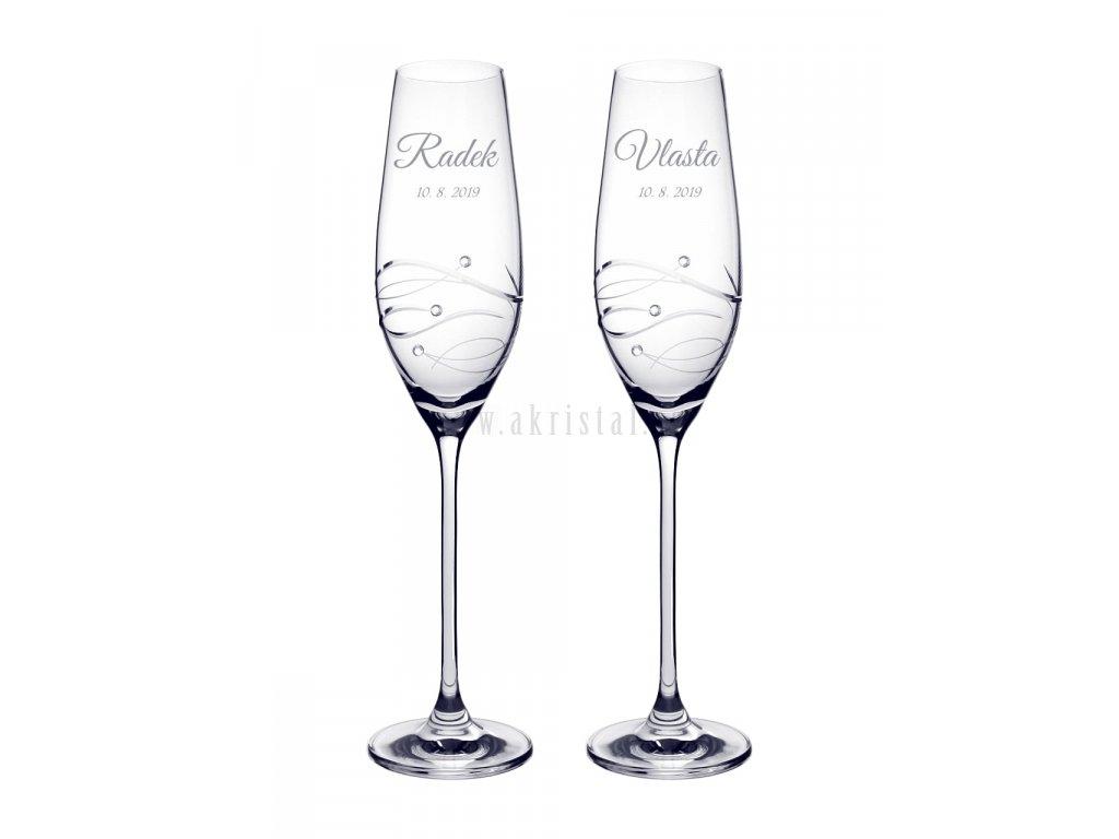 Svatební skleničky Waves