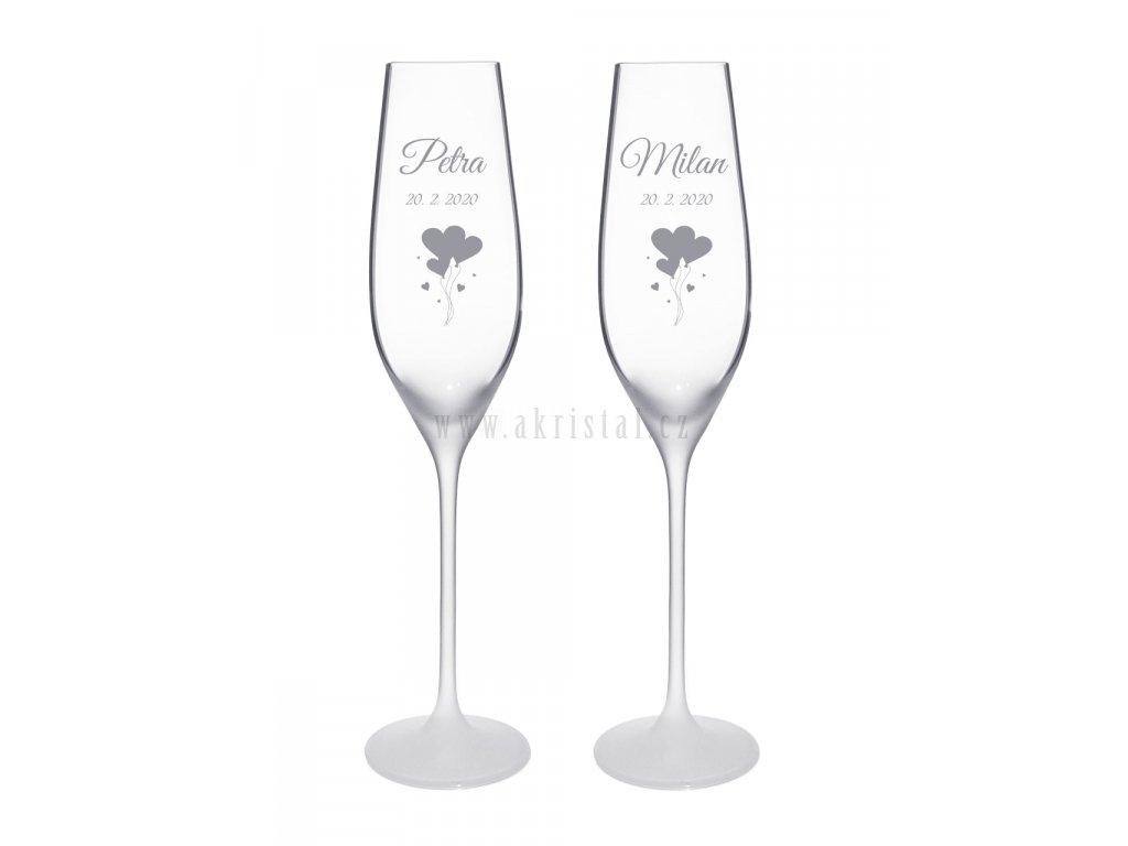 Svatební skleničky Sandy