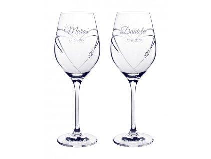 HEARTS - svatební skleničky se Swarovski®