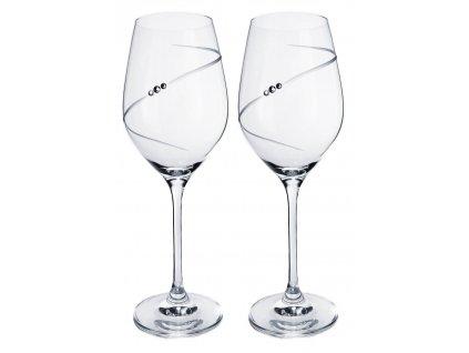 sklenicky na vino se swarovski elements silhouette