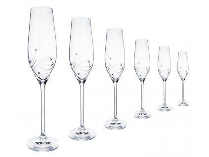 skleničky na sekt swarovski®moon