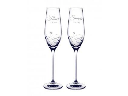 Svatební skleničky Moon