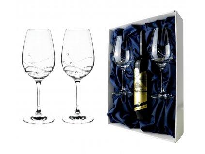 set skleniček na víno v boxu pro láhev