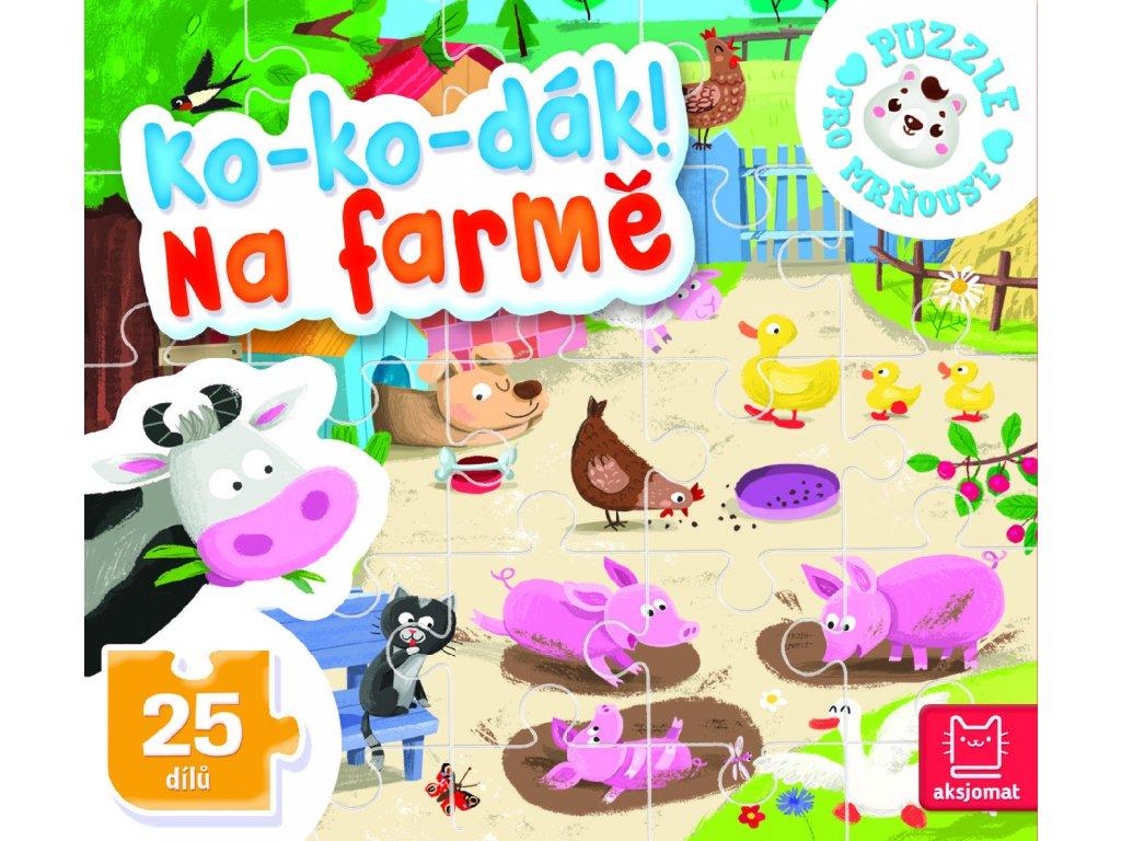 Puzzle Ko-ko-dák! Na farmě